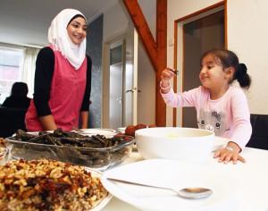 Syrische Vluchtelingen Ureterp.Nisrin en Tulib.